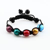 Murano glass ball beaded macrame bracelets