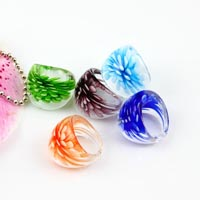 Murano glass finger ring
