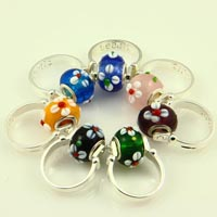 Finger rings with big hole troll beads