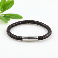 Leather bracelets with buckle
