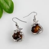 Semi precious stone earrigs