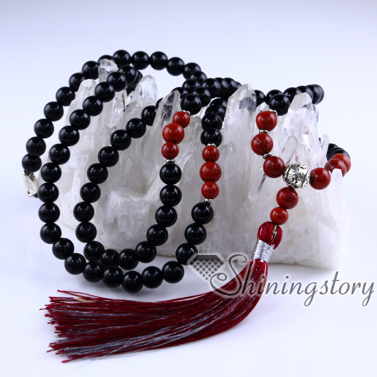 we men are all for necklace buddhist mens buddha stone mala s crow beads smith
