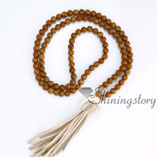 108 buddhist prayer beads yoga mala prayer beads for sale crescent moon necklace yoga beads wholesale