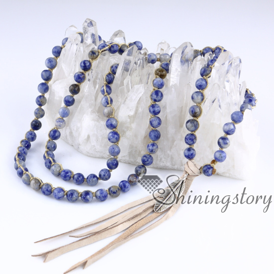 bohemian necklaces 108 mala bead necklace with tassel buddhist prayer beads mala beads wholesale meditation jewelry yoga spiritual jewelry