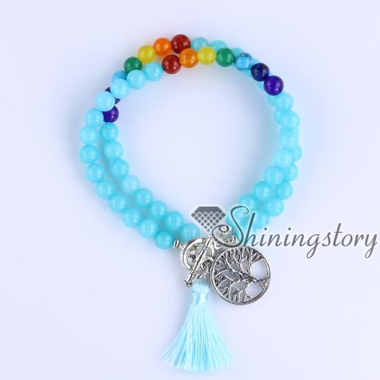 Chakra Bracelet Healing Jewelry Spiritual Yoga Bead Bracelets Crystal Jewellery Design A
