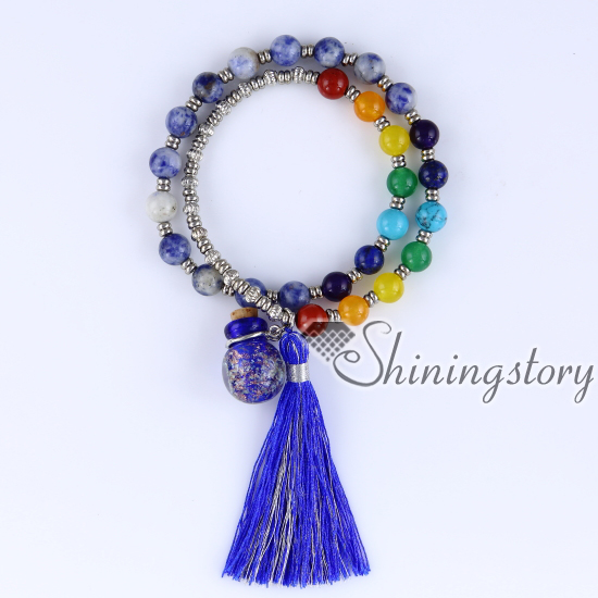 chakra bracelet with tassel aromatherapy bracelet 7 chakra healing jewelry tree of life locket bracelet chinese prayer beads