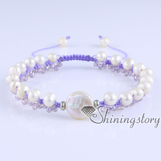 cultured freshwater pearl bracelet crystal and pearl bracelets bohemian jewellery online wholesale boho jewelry