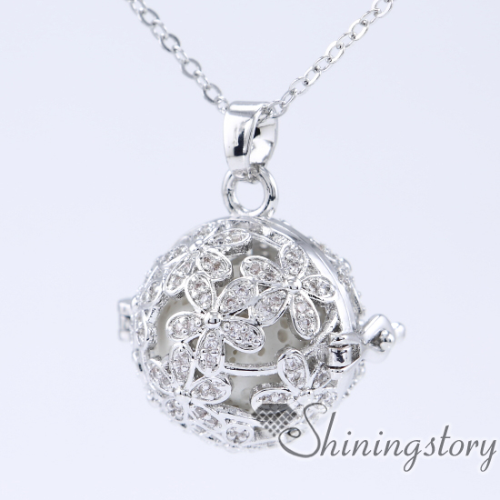 cz cubic zircon aromatherapy inhaler locket charm necklace lockets to put ashes in love locket chain wholesale essential oil diffusers