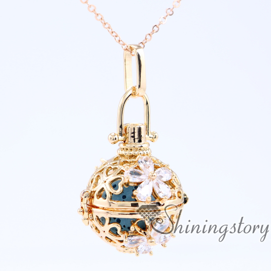 cz cubic zircon essential oil necklace charm necklace locket necklace heart locket cheap lockets for sale aromatherapy necklace