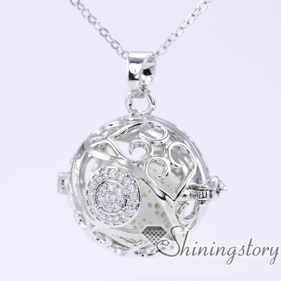 cz cubic zircon oil diffuser necklace lockets with charms keepsake lockets cheap heart locket necklace aromatherapy necklace
