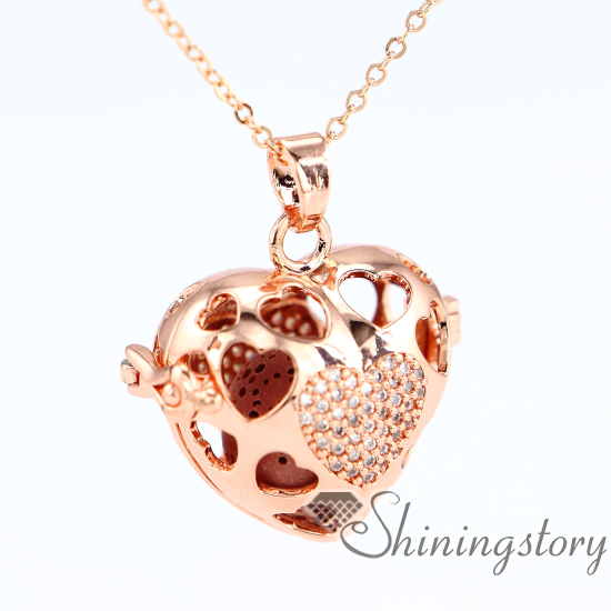 heart locket aromatherapy locket chain locket gold open heart locket necklace