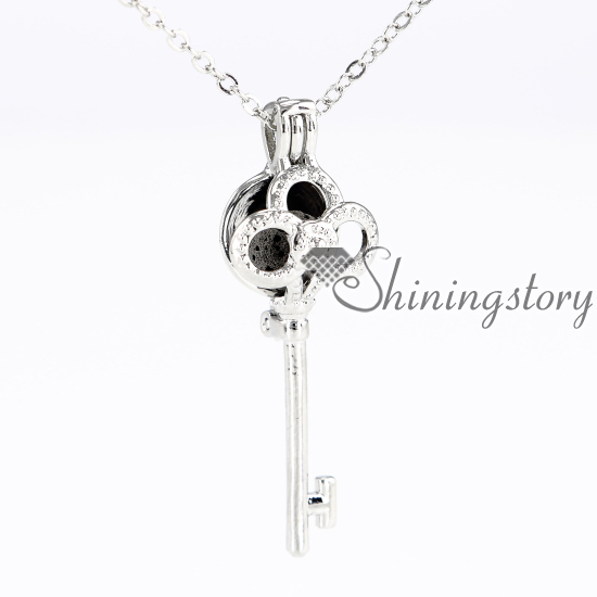 key round heart locket aroma jewelry locket heart diffuser necklace pads metal volcanic stone openwork necklaces