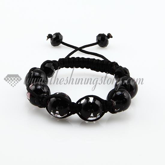 macrame lines lampwork beads bracelets jewellery armband