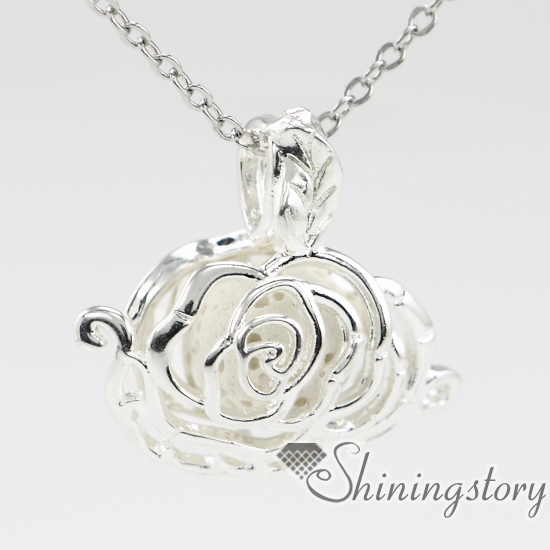 rose flower locket pendant essential oil jewelry aroma jewelry lockets for sale aromatherapy jewelry small locket necklace