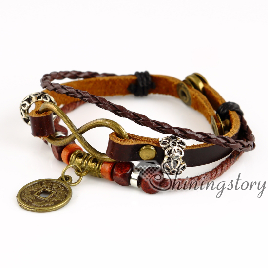 round wholesale leather jewelry charm it sister charm bracelet mens