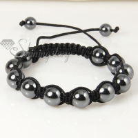 10 mm macrame hematite beads bracelets jewelry