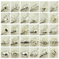 1000pc silver plated european large hole charms fit for bracelets