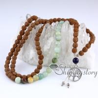 108 mala bead necklace buddhist prayer beads meditation beads buddhist rosary spiritual yoga jewelry yogi healing jewelry