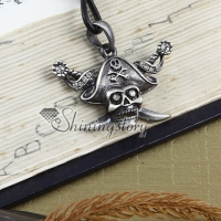 Leather long chain pendants necklaces