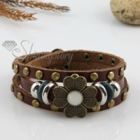 genuine leather bracelets with buckle