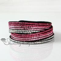 crystal rhinestone wrap bracelets