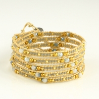 Wrap leather beaded bracelets