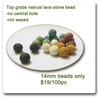 14mm lava stone bead essential oil diffuser 100 pc lot