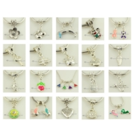500pc silver dangle european charms fit for bracelets