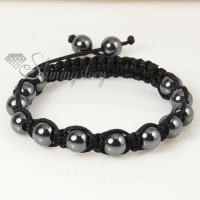 8 mm macrame hematite beads bracelets jewelry