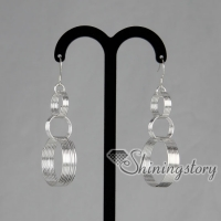 925 sterling silver filled brass loop interlock dangle earrings jewelry jewellery