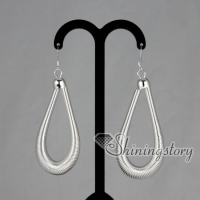 925 sterling silver filled brass mesh tear drops dangle earrings