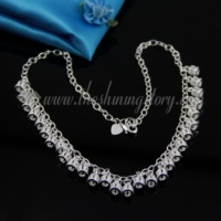 925 sterling silver plated crown dangle necklaces jewelry