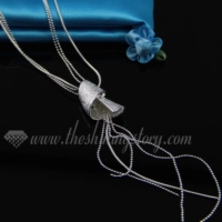 925 sterling silver plated tassel toggle necklaces jewelry