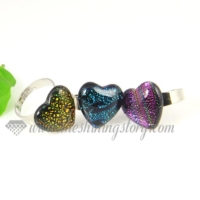 Dichrioic glass finger rings jewelry