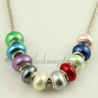Pearl big hole beads
