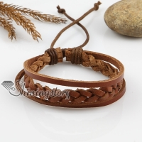 adjustable woven leather bracelets for men and women