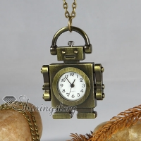 android pocket watch antique long chain pendants necklaces