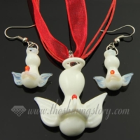 angel venetian murano glass pendants and earrings jewelry