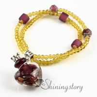 aromatherapy jewelry scents venetian glass essential oil bracelet