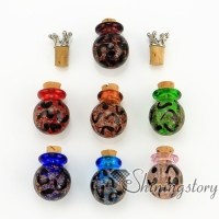 ball glitter murano glass handmade murano glassglass vial pendantmemorial urn jewelrycremation ashes jewelry