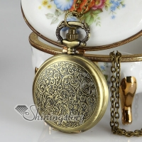 baroque long chain pocket watch pendants necklaces