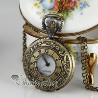 barpque long chain pocket watch pendants necklaces