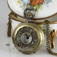 barroque long chain pocket watch pendants necklaces