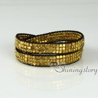 beaded silver and gold nugget bracelets friendship best friends double layer bracelets adjustable fashion bracelets jewellery jewelry