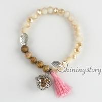 beaded tassel bracelet mala bracelet diffuser bracelet aromatherapy jewelry diffusers buddhist prayer beads bracelet yoga inspired jewelry