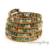 beaded wrap bracelet handmade jewelry five layer wrap beaded bracelet beaded friendship bracelets leather wrist bracelet