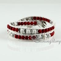 beaded wrap bracelets semi precious stone jade agate turquoise rose quartz double layer bracelet natural stone jewelry
