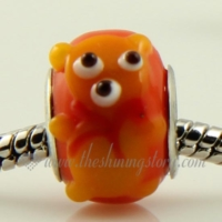 bear lampwork glass beads for fit charms bracelets