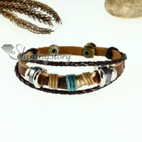 bone genuine leather wrap bracelets unisex