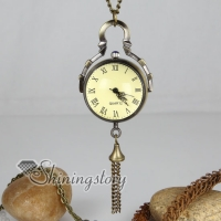brass antique style tassel suona pocket watch pendant long chain necklaces